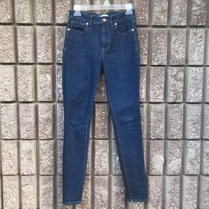 "Madewell 9"" High Riser Skinny Skinny jeans sz 27T"